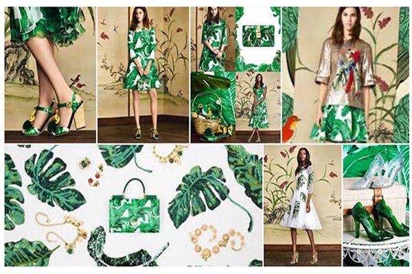 La colección Jardín Botánico de Dolce & Gabanna incluye vestidos para diferentes ocasiones y lujosos accesorios.